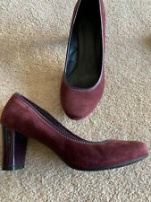 Ladies Suede Burguandy M&S Footglove Shoes Size 5.5  Worn Once