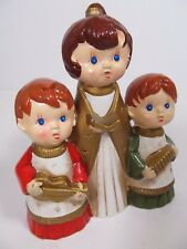 Star Vintage Hand Painted Music Box Carolers Plays Silent Night
