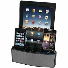 3 Port Smart Phone Charger with Speaker- Retail Packaging - Black