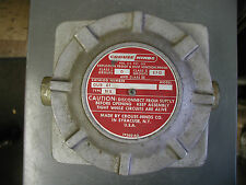 Crouse Hinds GUB01 Outlet Box for Hazardous Locations