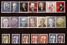 91T1 ALLEMAGNE 21 timbres oblit. Personnages important du pays