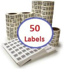 "50 Barcode Labels 1.5"" x 1"" UPC Numeric Text Drawing upc4u"