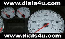 PEUGEOT 307 (2001-2008) - 130mph (Petrol or Diesel) - WHITE DIAL KIT