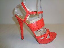 Michael Kors Size 7 M NADJA PLATFORM Mandarin Leather Sandals New Womens Shoes