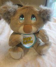 Vintage Galoob Lost n Founds Koala Bear Plush w Bib Crying Sad Stuffed 1989