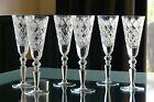 DIAMOND CUT pattern TALL High quality CRYSTAL wine glasses, Set of 6, Russia