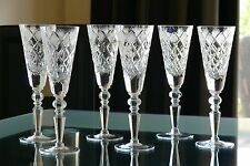 DIAMOND CUT pattern TALL High quality CRYSTAL wine glasses, Set of 6, Russia