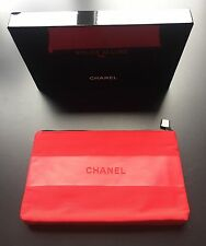 CHANEL ~COTTON ROUGE ALLURE INK~ RED MAKEUP Cosmetic Bag / Pouch ~ New With Box