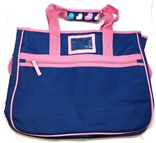Beach Pass Travel Tote Bag Gear Purple Pink Big Large Zipper Shop Purse Shoulder
