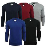 Mens Jumper Smith & Jones Balustrade V Neck With Mock Inner Knitted Sweater