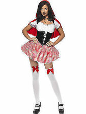 Womens Red Riding Hood Fancy Dress Costume Ladies Fairytale Outfit Smiffys 38490 M - Medium