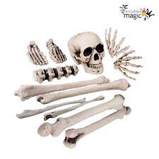 New Bag of Skull and Bones Cemetery Graveyard Skeleton Halloween Decoration Prop