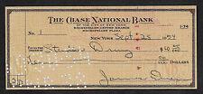 James Dean Autograph & Check Reprint On Fine Linen Paper