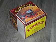 Vintage Fondue Set with Burner & 6 Matching Forks MINT ALL ORIGINAL!
