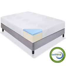 "Best Choice Products 10"" Dual Layered Gel Memory Foam Mattress - Queen Size"