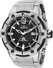 28004 Invicta Subaqua Automatic Mens 53mm Case Blk Dial Silver SS Bracelet Watch