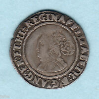 Great Britain. 156(4?) Elizabeth 1, Sixpence.. MM-Pheon..  Near Full Flan..  gF