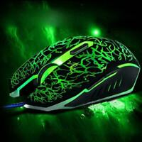 4000 DPI 6 Button LED Optical USB Wired Gaming Mouse Mice For Pro Gamer New