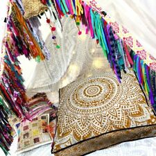 """Indian Ombre Square Floor Pillow Meditation Cushion Cover 35x35"""" Cotton Pillows"""