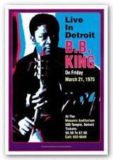 CONCERT POSTER BB King Masonic Auditorium Detroit 1974 Dennis Loren