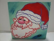 "Steve Kaufman ""Santa Claus"" Original Art On Canvas"