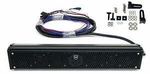 Wet Sounds Stealth 6 Ultra HD 200W Amplified Black Marine ATV Soundbar + Remote