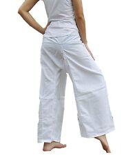 One Tone Pure White Pants Yoga Pants Thai Fisherman Trousers Free Size