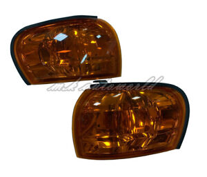 Crytsal Amber Side Corner Lights  for 1992-2000 Subaru Impreza GC8 GF8 WRX STI