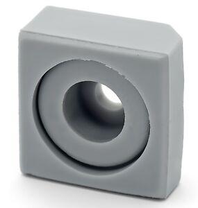4 x Shower/Bathroom Door Square Plastic Rubber Orientation Blocks Stops L022