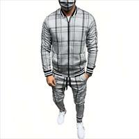 Men Jogger Tracksuit Casual Pants Jacket Sweatsuit Hip Hop Sweatshirt Set