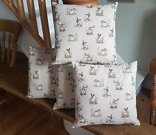 Quilted Cushion, Hare Pattern
