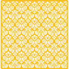 "Designer Stencils Decorating Stencil Small Damask, Overall Measures 23""H x 23""W"