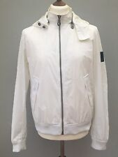 Dkny Donna Karen New York White Jacket With Hoody Large Vintage Unisex Gc