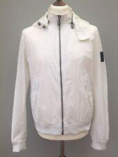 Dkny Donna Karen New York White Jacket With Hoody Large Vintage Unisex Gc