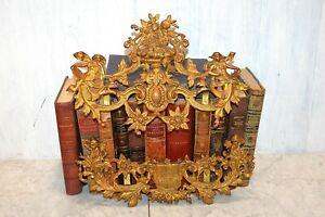 Antique French Bronze Ormolu Art Nouveau Cherub Fairy Mounts For Mirror Frame