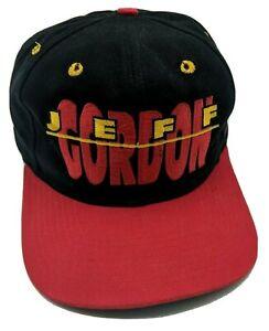 JEFF GORDON No. 24 / NASCAR black adjustable cap / hat - large spell-