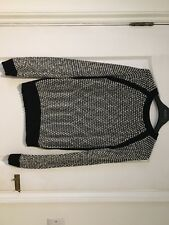 New Look Black and White fluffly Jumper Womens 10 Knitwear