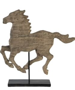 A&B Home Natural Wood-Like Horse Figurine Home Decor Accent Sculptural Piece NEW