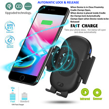 Infra-Red Qi Wireless Fast Car Charger Mount Holder Samsung S9 S8 Apple iPhone X