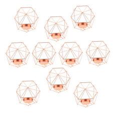 10er 3d geometrische hochzeit kerzenständer kerze teelichthalter stieg