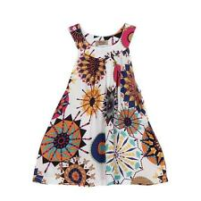 Kids Toddler Baby Girls Floral Sleeveless Princess Dress Party Sundress 6T