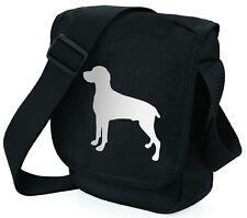 More details for weimaraner dog bag shoulder bags metallic silver black handbag mothers day gift