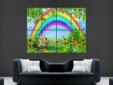 Tinkerbell bajo el Arco Iris árbol muro de arte cartel impresión de foto Grandes Enormes
