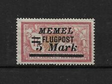 Memel 1922,Air Mail Flugpost,5 Mark Scott # C27,VF Mint LH OG (A-8)