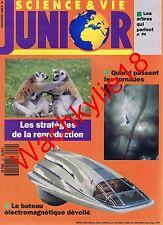 Science et vie junior n°20 du 11/1990 Tornades Reproduction Bateau