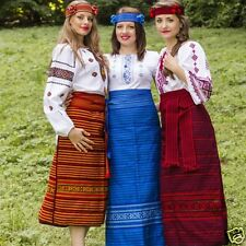 Ukrainian handmade folk embroidered costume for ladies, vyshyvanka, 4 pieces