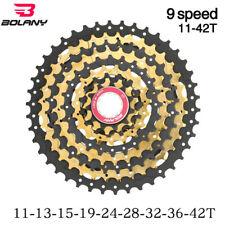 Bolany 9s 11-42T Gold freewheel MTB mountain bike ultralight flywheel cassette