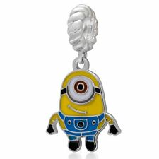 Minions 925 Sterling Silver Dangle Charm Bead Fit European Bracelet Bangle S3135