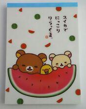 San-x Kawaii Rilakkuma Summer Fireworks Large Memo Pad stationery stickers