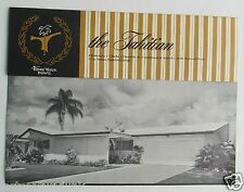 Tierra Yerde  Pinellas County Florida House Plans For The Tahitian 1960's ?